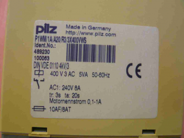 Pilz Active Power Meter P1 WM/1A/A20/R3/3X400VWS